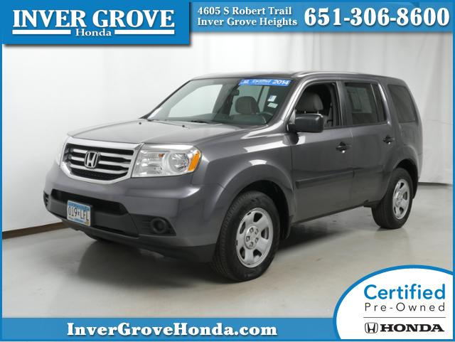 certified pre owned 2014 honda pilot lx for sale inver grove heights mn st paul minneapolis. Black Bedroom Furniture Sets. Home Design Ideas